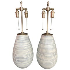 Spectacular Pair of unique Orbs with Lamp Application