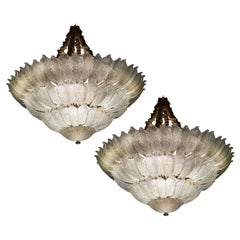 Spectacular Pair of Venetian Ceiling Lights. Murano 1990