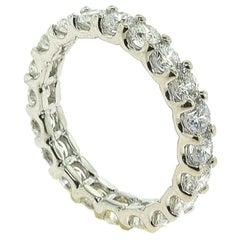 Spectacular Round Diamond Full 3 Carat Eternity Ring / Wedding Band White Gold