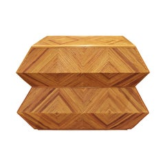 Spectacular Sculptural Chest of Drawers in Bamboo, 1970s