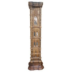 Spectacular Walnut Maquette of Giotto's Campanile in Florence, Italy