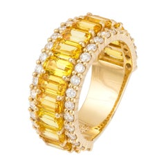 Spectacular Yellow Diamond Yellow Gold 18k Ring for Her