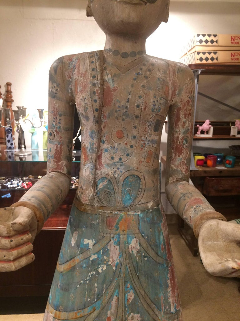 Spectacularly Impressive Pair of Handmade Indian Sculptures For Sale 1