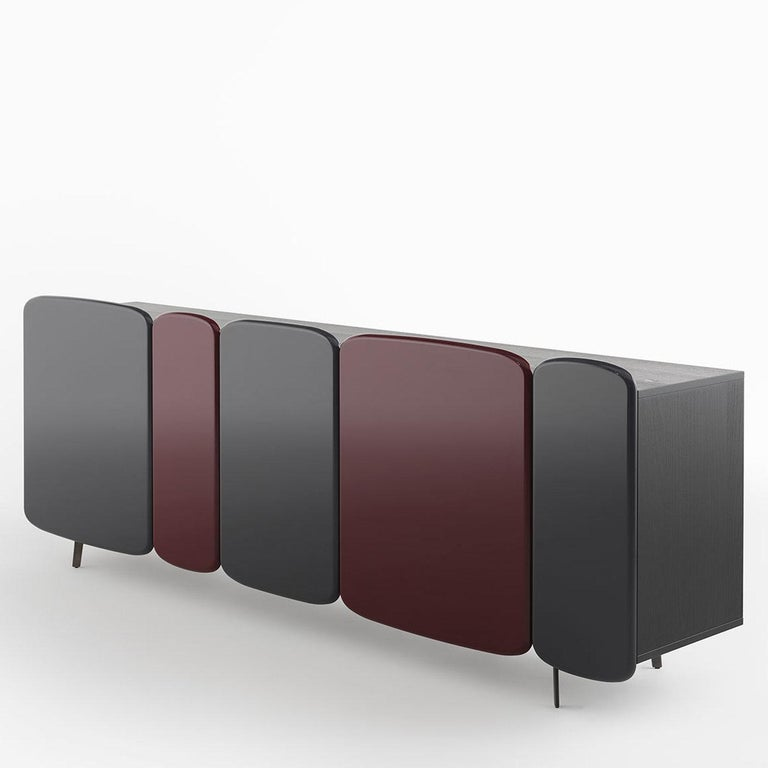 Italian Spectro Gray and Red Sideboard by Claesson Koivisto Rune For Sale