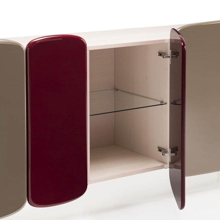 Spectro Gray and Red Sideboard by Claesson Koivisto Rune In New Condition For Sale In Milan, IT