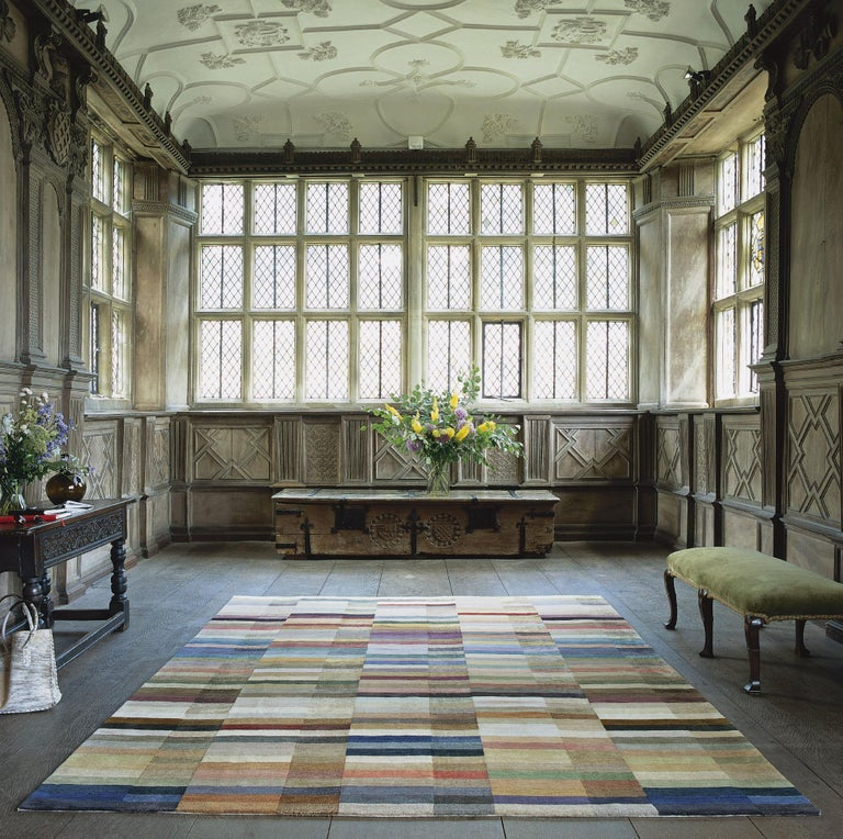 Incredibly adaptable, the Spectrum rug will work beautifully in almost any space as the rich yet calm palette of colors work with everything. This design has 120 different colors in wool and silk; every color is distinct, and thus presents a great