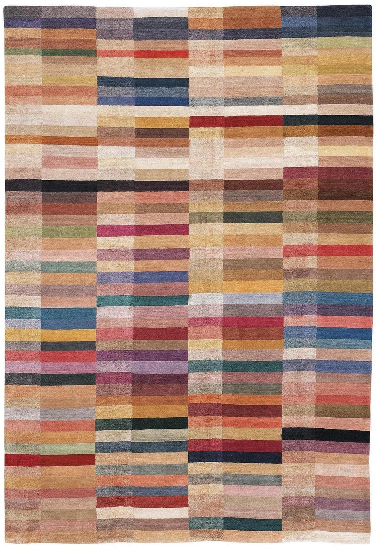Spectrum Hand-Knotted 10x8 Rug in Wool and Silk by The Rug Company In New Condition For Sale In London, GB