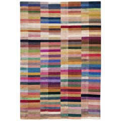 Spectrum Hand-Knotted 10x8 Rug in Wool and Silk by The Rug Company
