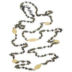 Spectrum Pyrite Gold & Oxidized Necklace