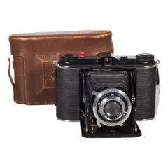 Speedex Folding Camera with Leather Case, circa 1940