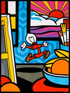 """Genius in My Studio"" - Painting by Speedy Graphito"