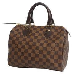 Speedy25  Womens  handbag N41532  Damier ebene Leather