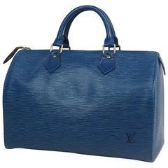 Speedy30  Womens  handbag M43005  Toledo Blue