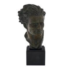 Spelter Art Deco Bust of Jean-Mermoz