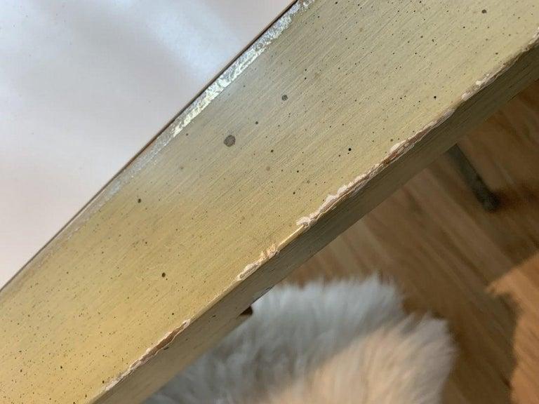 Spencer & Company Regency Desk with Silver Leaf Metal Base For Sale 4