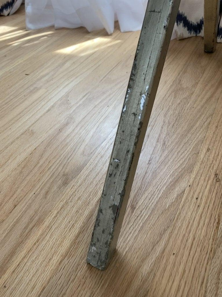 Spencer & Company Regency Desk with Silver Leaf Metal Base For Sale 5