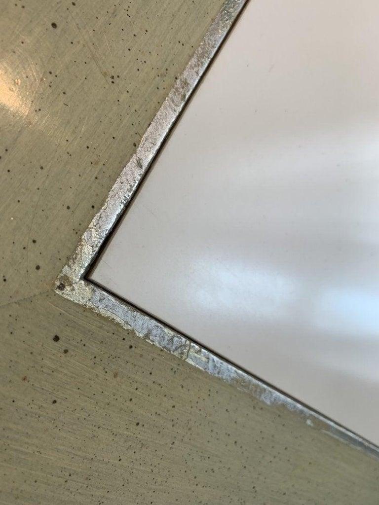 Spencer & Company Regency Desk with Silver Leaf Metal Base For Sale 6