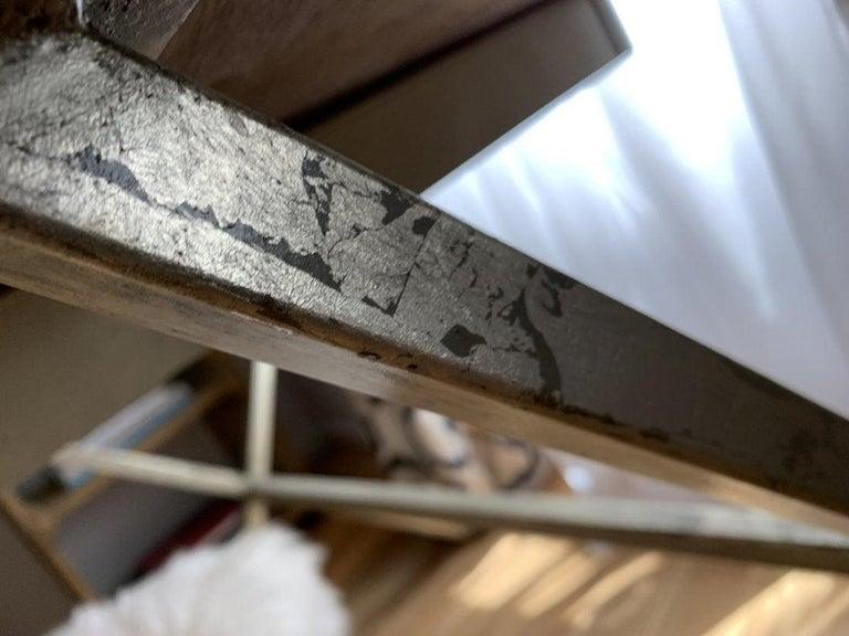Spencer & Company Regency Desk with Silver Leaf Metal Base For Sale 1