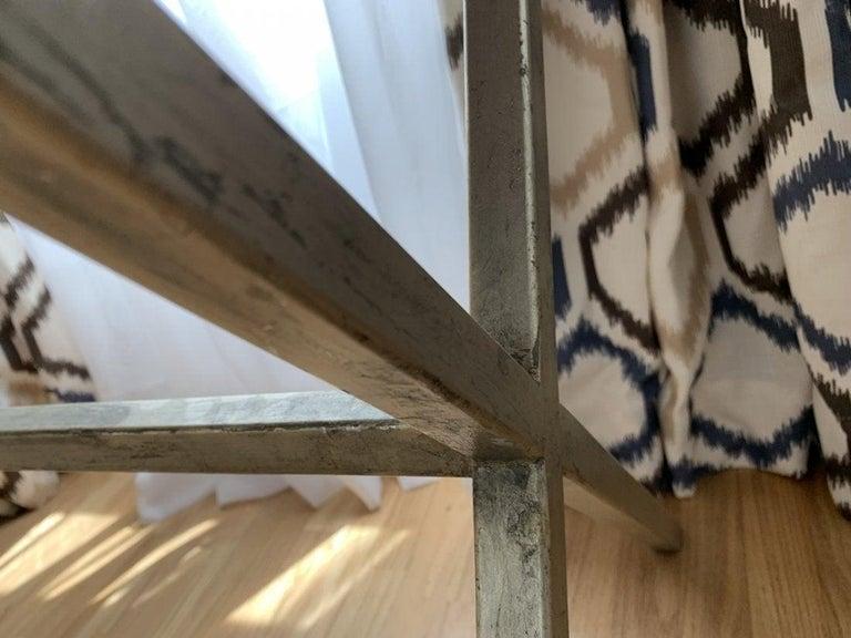 Spencer & Company Regency Desk with Silver Leaf Metal Base For Sale 2