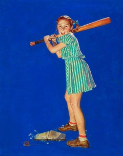 Up at Bat, The Saturday Evening Post Cover, August 10, 1940