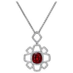 Spessartite Garnet Pendant Necklace 8.31 Carat