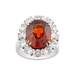 Spessartite Garnet Ring, 11.00 Carats
