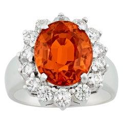 Spessartite Garnet Ring, 5.50 Carat