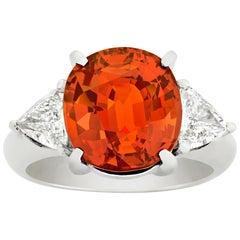 Spessartite Garnet Ring, 6.50 Carat