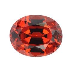 Spessartite Garnet Ring Gem 10.49 Carat Oval Loose Gemstone