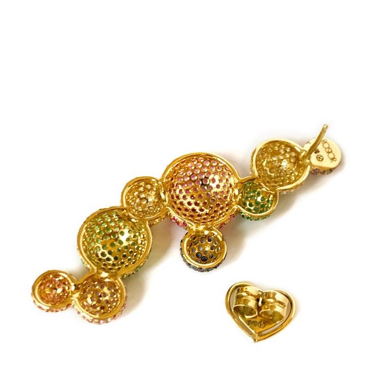 Round Cut Rosior Diamond, Sapphire, Emerald and Tsavorite one of a kind
