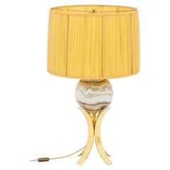 Sphere Lamp in Marble and Gilt Brass, 1970s