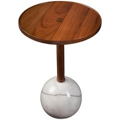 Sphere Monterrey Side Table, White Marble