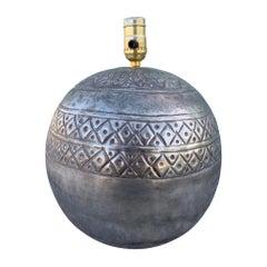 Sphere Nickel Lamp by Sarreid Ltd