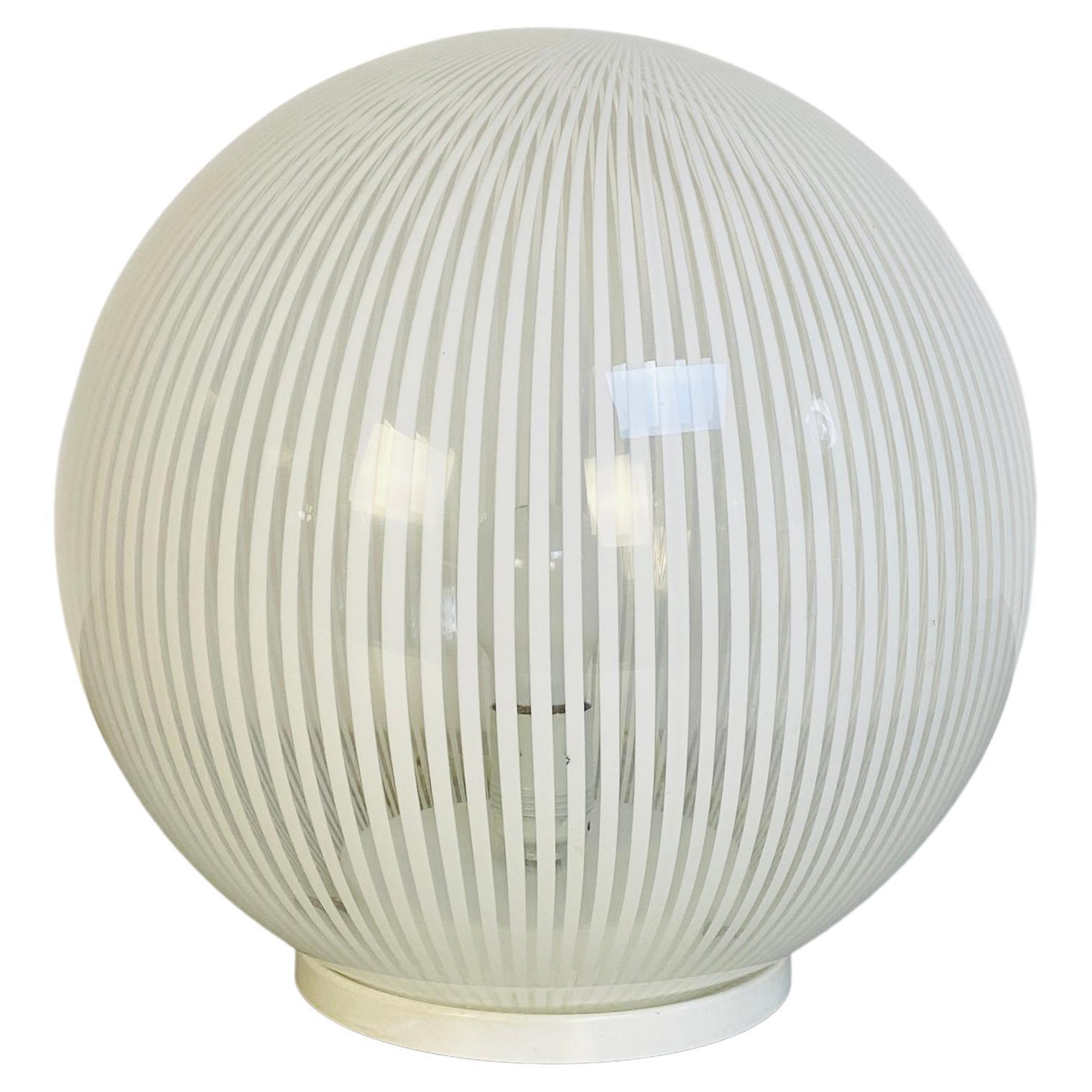 Sphere Table Lamp by L. Diaz De Santillana for Venini, Tessuti Series, 1970s