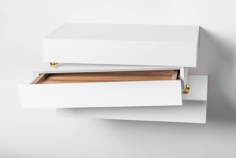 Stainless Steel Contemporary Chest of Drawers