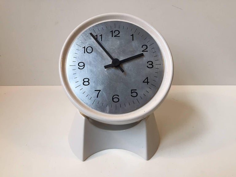 Mid-Century Modern Spherical Midcentury Danish Rotating Pottery Table Clock from Søholm, 1970s For Sale