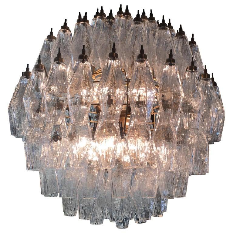 Spherical Murano Poliedri Chandelier Carlo Scarpa Style, Murano For Sale 8