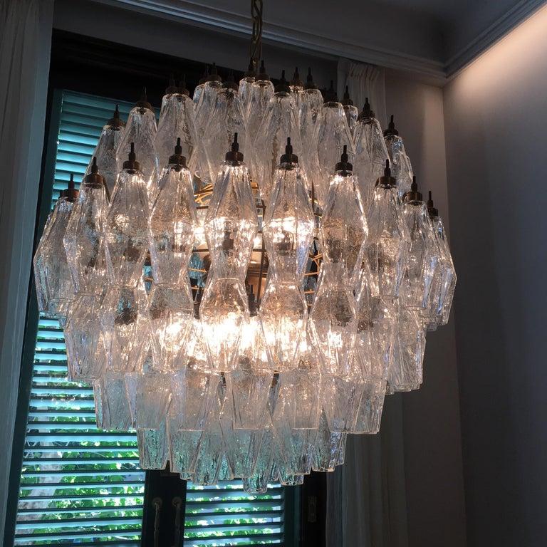 Spherical Murano Poliedri Chandelier Carlo Scarpa Style, Murano For Sale 12