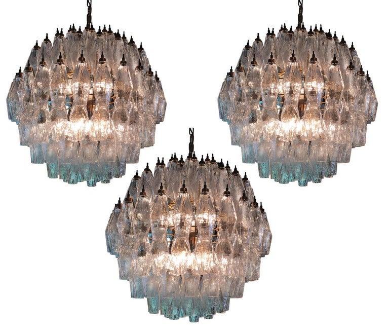 Italian Spherical Murano Poliedri Chandelier Carlo Scarpa Style, Murano For Sale