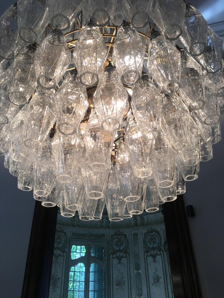Late 20th Century Spherical Murano Poliedri Chandeliers Carlo Scarpa Style, Murano