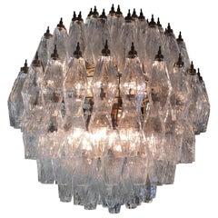 Spherical Murano Poliedri Chandeliers Carlo Scarpa Style, Murano