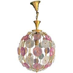 Spherical Pendant Snowball Dandelion by Emil Stejnar, 1950s