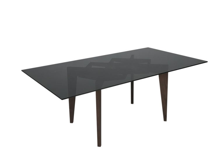 Spider Contemporary Table Made of Ashwood with Interlocking Legs and Glass Top In New Condition For Sale In Salizzole, IT