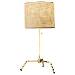 Spider Table Lamp by Isabel Moncada, Brass Base/ Fiberglass Lampshade, UL Listed
