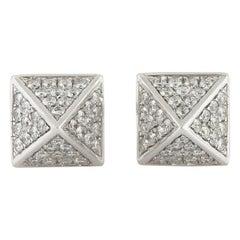 Spike Diamond 18 Karat Gold Stud Earrings