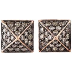 Spike Diamond 18 Karat Stud Earrings