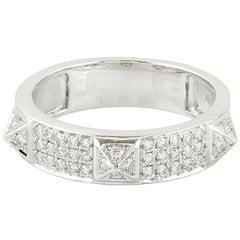 Spike Diamond 18 Karat White Gold Ring