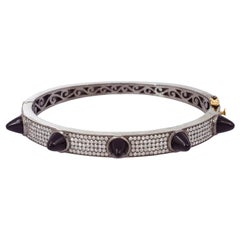 Spike Diamond Black Onyx Bangle Bracelet