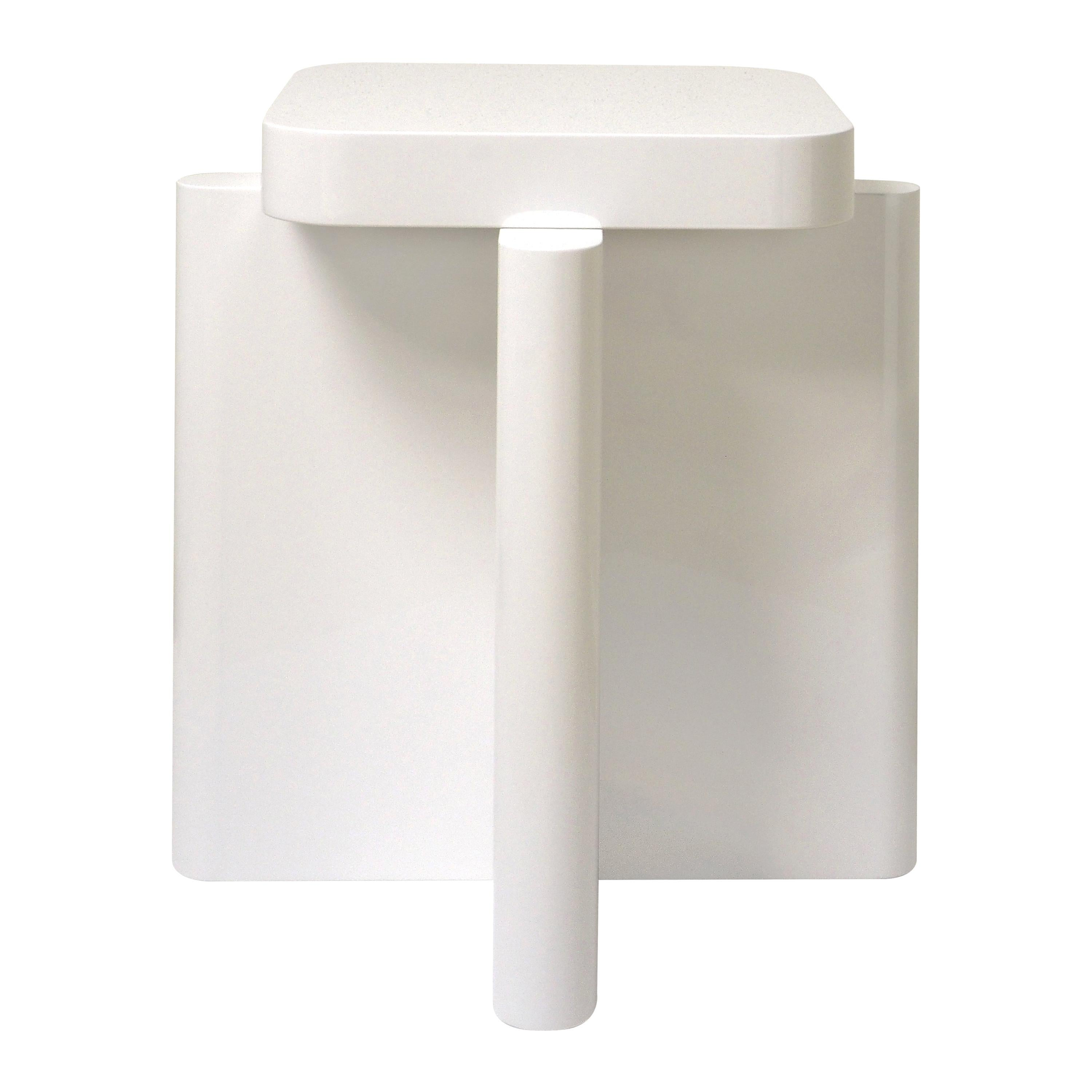 Spina Side Table in Lac Wood Off-White 1 Edited by Portego
