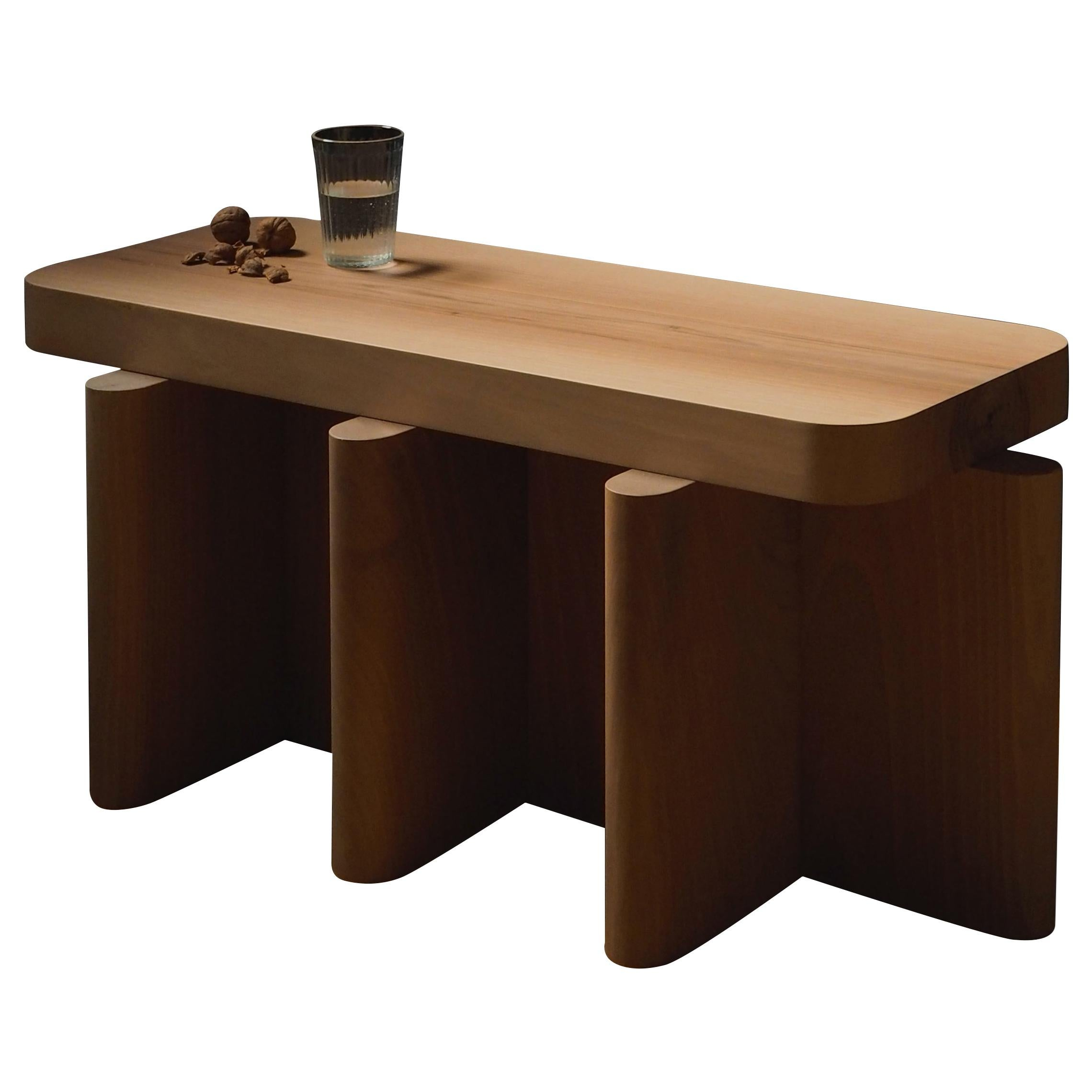 Spina Side Table in Wood 3 Edited by Portego Customizable